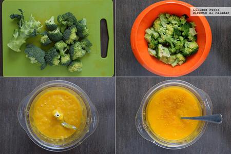 Brócoli con salsa de mango y anacardos
