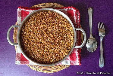 Guarnición de arroz con soja. Receta
