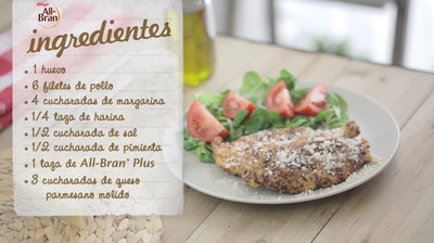 Pollo parmesano con All-Bran® Plus [Videoreceta]