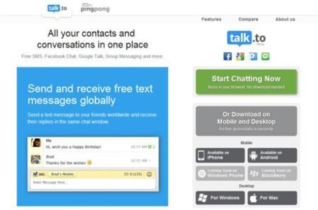 Talk.to, unifica todos los servicios de mensajería instantánea en uno solo