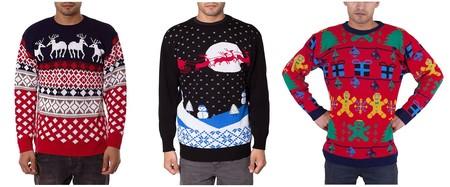 Desde 19,99 euros podemos hacernos con uno de estos jerseys con motivos navideños en Amazon
