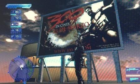 Publicidad in-game: anuncios de '300' en Crackdown