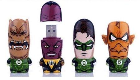Memorias USB MimoBot de Linterna Verde