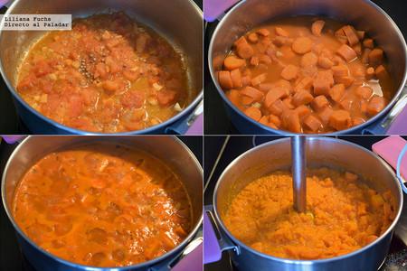 Crema de Zanahoria y Manzana. Pasos