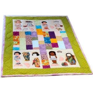¡Qué calentita! Bonita manta infantil de patchwork