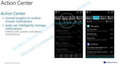 Action Center: se filtran capturas del centro de notificaciones en Windows Phone 8.1