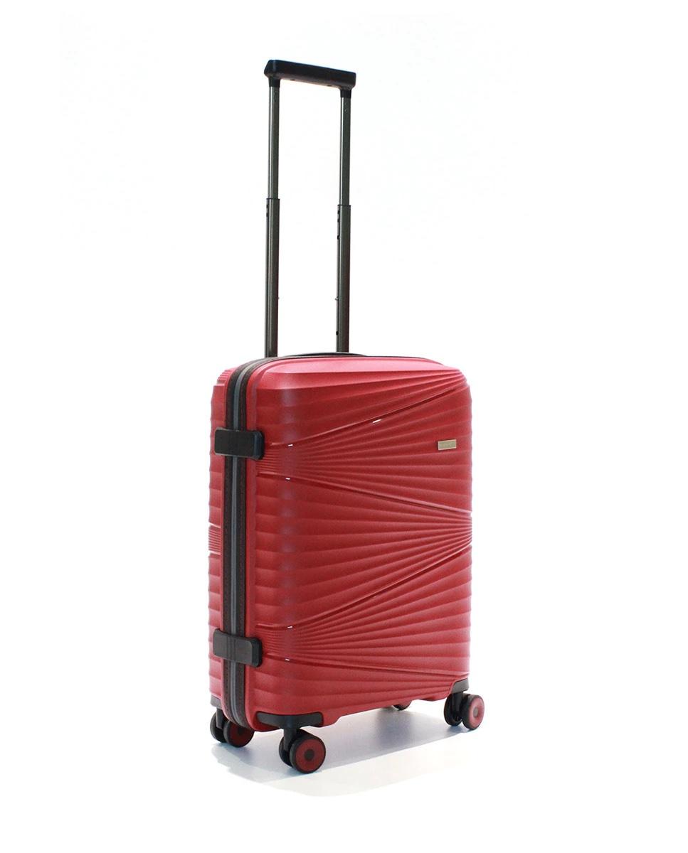 Maleta de cabina, rígida roja, con capacidad 40 L.