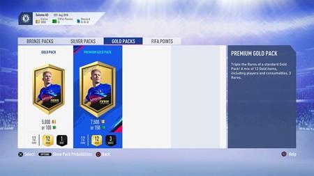 FIFA 19 cumple con su promesa y mostrará las probabilidades en los sobres de FUT
