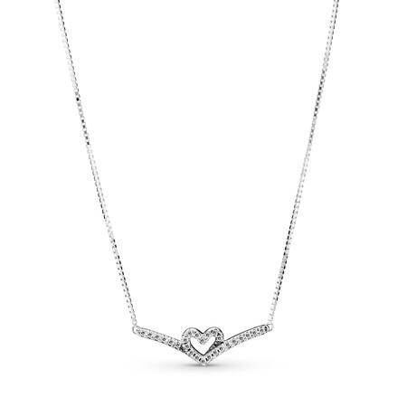 Pandora Collar Corazon Espumoso Brillante En Plata De Primera Ley 79eur 1
