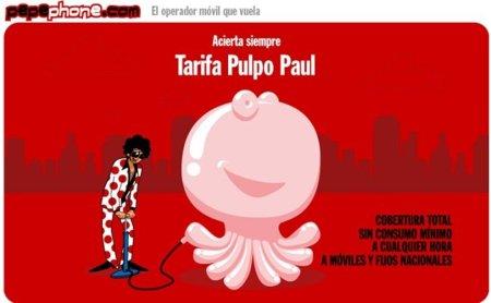 Tarifa Pulpo Paul de Pepephone: ideal para llamadas cortas pero sin penalizar las conversaciones largas