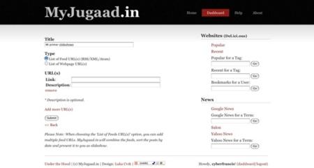 MyJugaad.in, presentaciones de sitios web