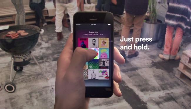 Spotify para iOS ahora permite tener un previo de las canciones con sólo un toque