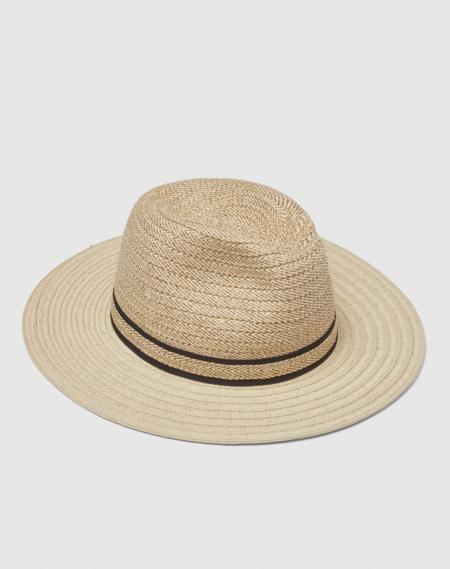 Sombrero Panama De Mujer Donatzelli De Paja En Natural Con Franjas Negras