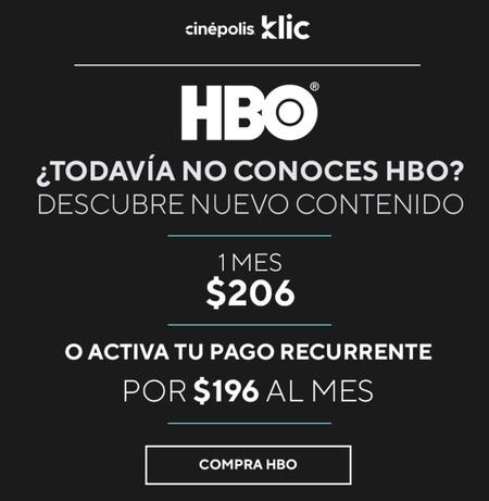 Cinepolis Klic Hbo Nuevo Precio Mexico