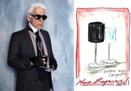 Línea de cristalería diseñada por Karl Lagerfeld