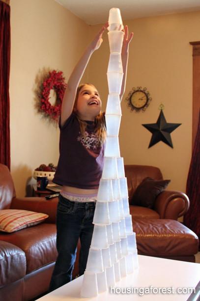 Juegos Actividades Ninos Casa Desechables Vasos