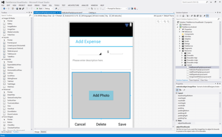 Android Designer para Visual Studio 2015