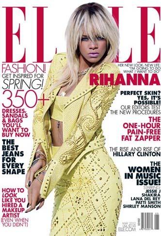 Rihanna es la portada (rubia) de Elle