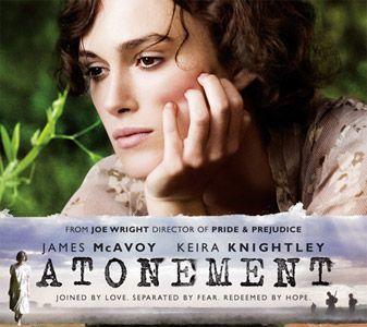 Póster de 'Atonement', con Keira Knightley