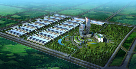 Wzmh Architects China Mobile Data Centre Aerial Rendering Honhot Harbin