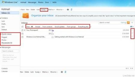Nuevas capturas de Hotmail Wave 4: Microsoft sigue tras los pasos de Gmail