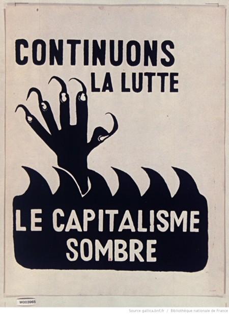Que siga la lucha, el capitalismo está oculto.