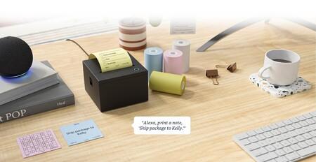 Las notas en papel adhesivo evolucionan: esta impresora compatible con Alexa te permite dictarlas con la voz