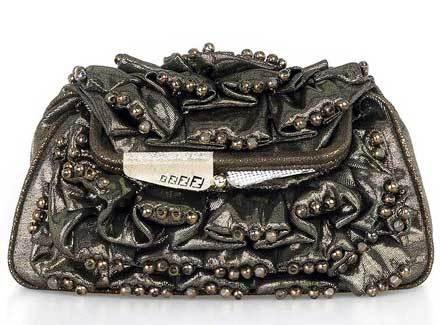 Ruched Beaded Bag by Fendi