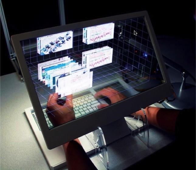 El ordenador transparente y con interfaz en tres dimensiones mira al futuro
