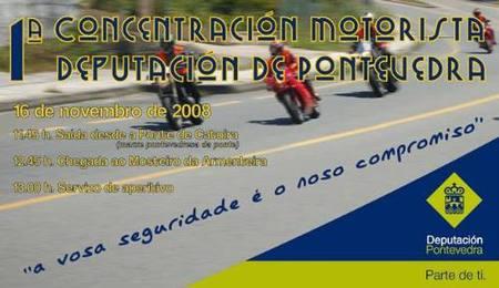La Diputación de Pontevedra organiza una concentración de motos