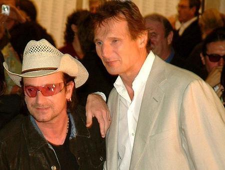 Liam Neeson y Bono trabajan juntos en un guión