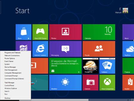 """El botón """"Inicio"""" de Windows 8, lo que está oculto y cómo se puede habilitar el botón clásico"""