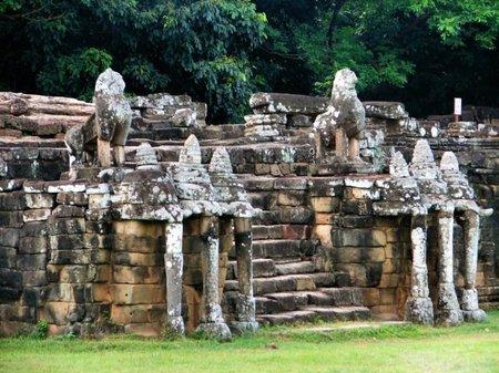 Camboya: La Terraza de los Elefantes en Angkor Thom