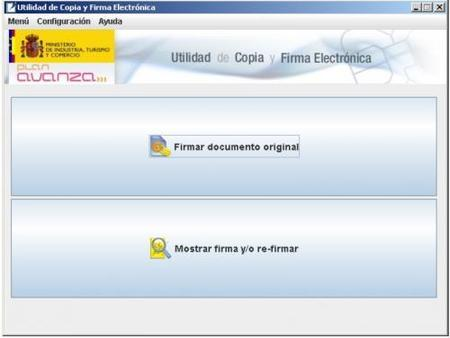 eCoFirma, utilidad de copia y firma electrónica