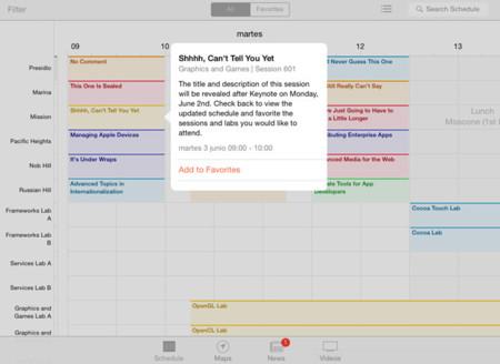 La app oficial de la WWDC de Apple se actualiza con divertidas sorpresas