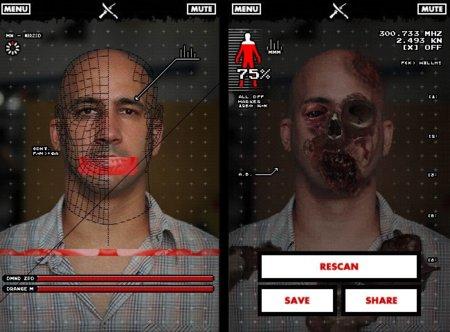 Ya podemos usar el móvil para saber si nuestro amigo es un zombi. Imagen de la semana.