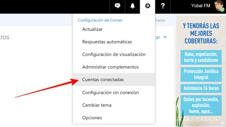 Haz Click Sobre Cuentas Conectadas
