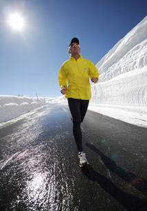 Corriendo con frio