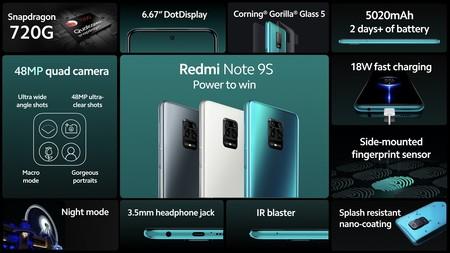 Xiaomi Redmi Note 9s Resumen Especificaciones
