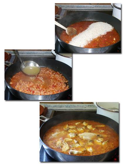paella elaboración