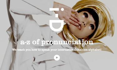 El A-Z de la pronunciación de las firmas de moda por I-D Magazine