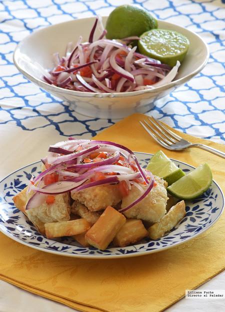 Jalea de pescado. Receta peruana