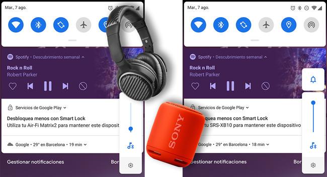 Android Pie recuerda el volumen de cada dispositivo Bluetooth conectado