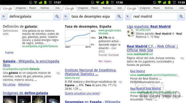 Google Search: Más funciones