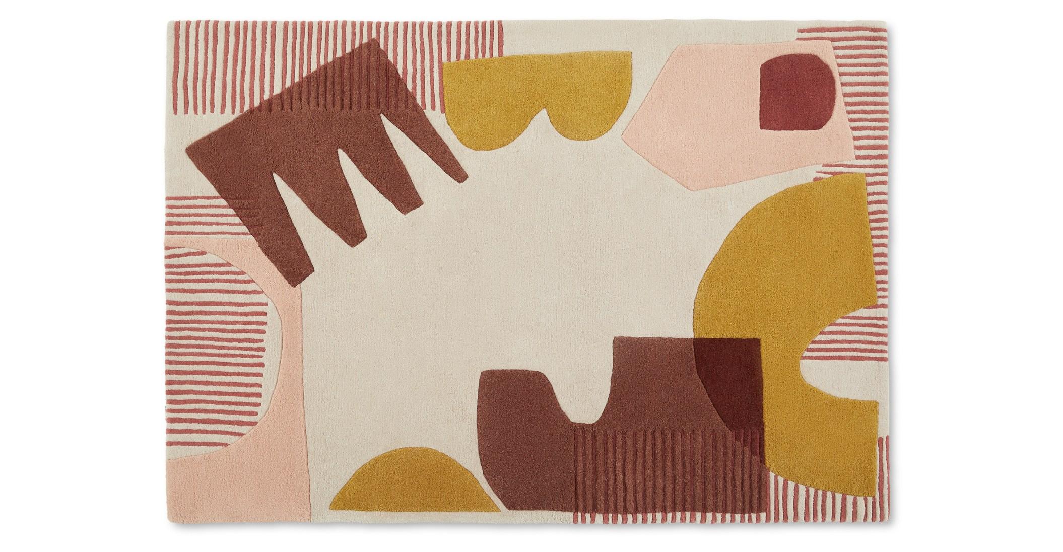 Zola Alfombra anudada de lana Zola, 160 x 230 cm, multicolor