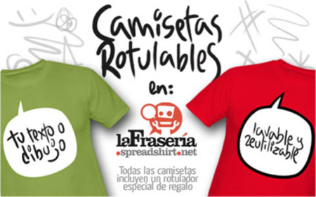 Camisetas rotulables de La Frasería
