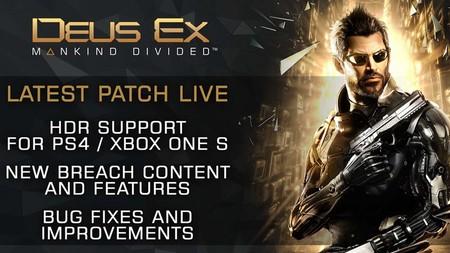 Deus Ex: Mankind Divided se convierte en el primer juego con soporte para HDR en PS4