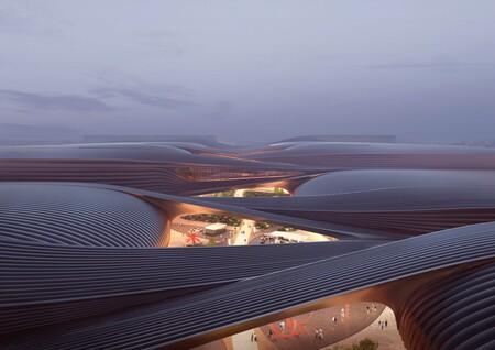 Diseño de expansión de Zaha Hadid Architects del Centro Internacional de Exposiciones en Beijing