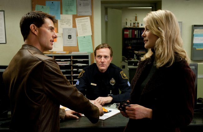 Tom Cruise, Lee Child y Rosamund Pike en Jack Reacher