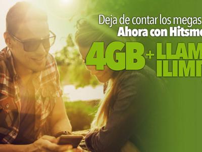 Hits Mobile se hace con la tarifa con llamadas ilimitadas y 4 GB más barata bajo cobertura Vodafone